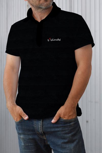Polo-Shirt mit t-blade-Logo kurzarm schwarz