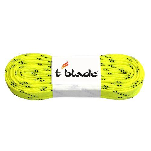 Waxed shoe laces neon-yellow