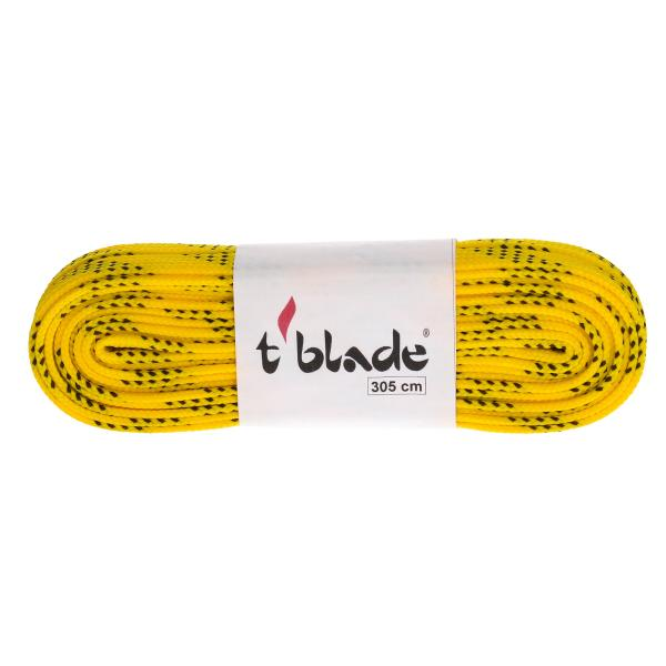Waxed shoe laces yellow