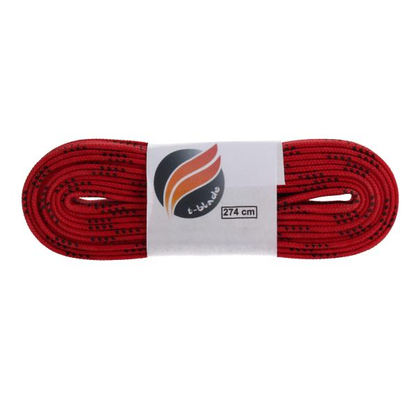 Waxed shoe laces red
